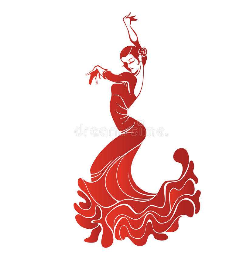 Free Young Passionate Woman Dancing Flamenco Stock Photography - 49544982