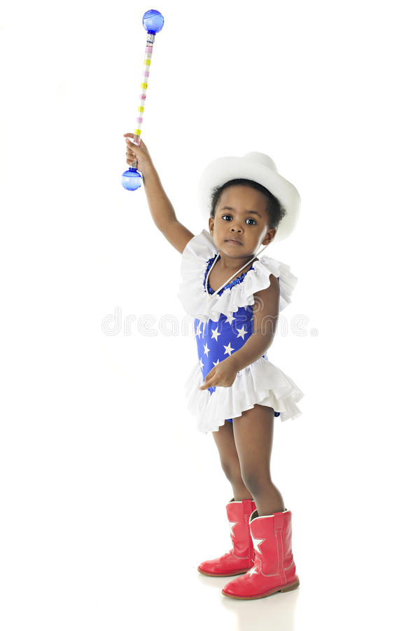 Young Patriot Reaching High stock image