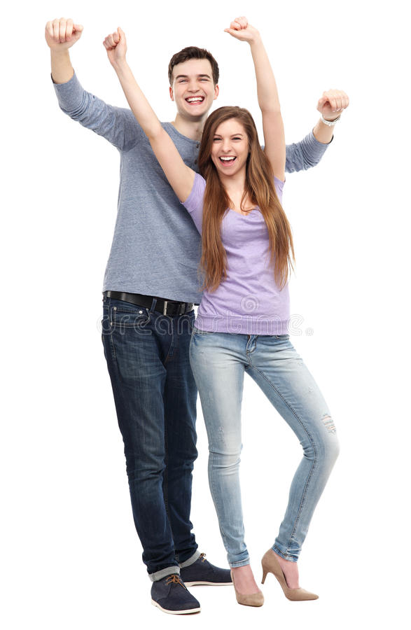 Download Young People With Arms Raised Stock Image - Image: 31287363