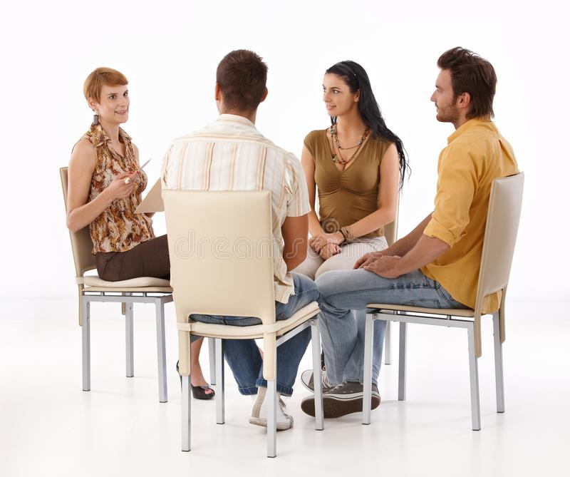 Download Young people brainstorming stock image. Image of collaboration - 24455991