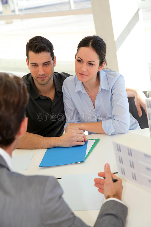 Young People Buying House Royalty Free Stock Photo