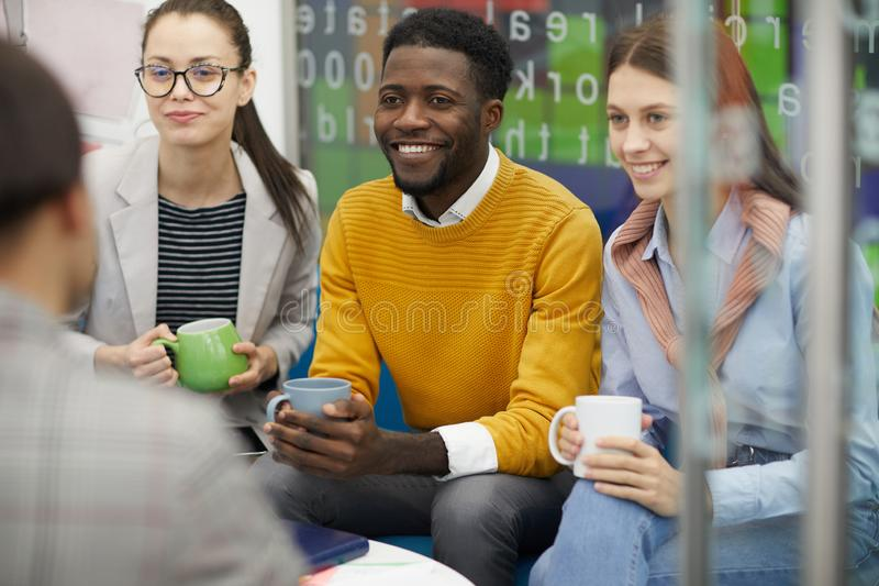 Young People Chatting on Break royalty free stock photos