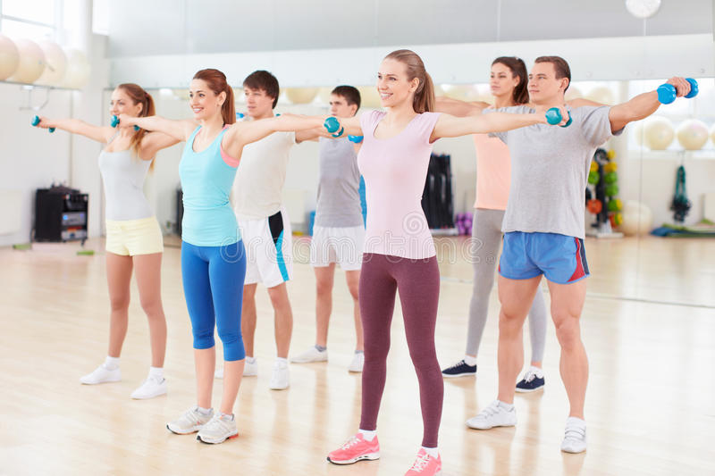 In fitness club stock photo