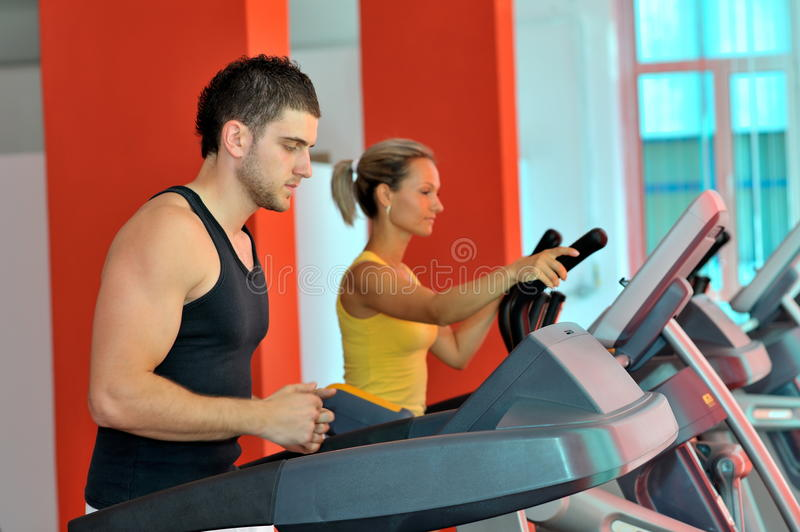 Download Young people in the gym stock image. Image of beautiful - 22008245