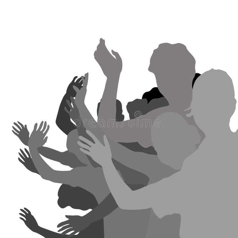 Young people hand waving stock photography