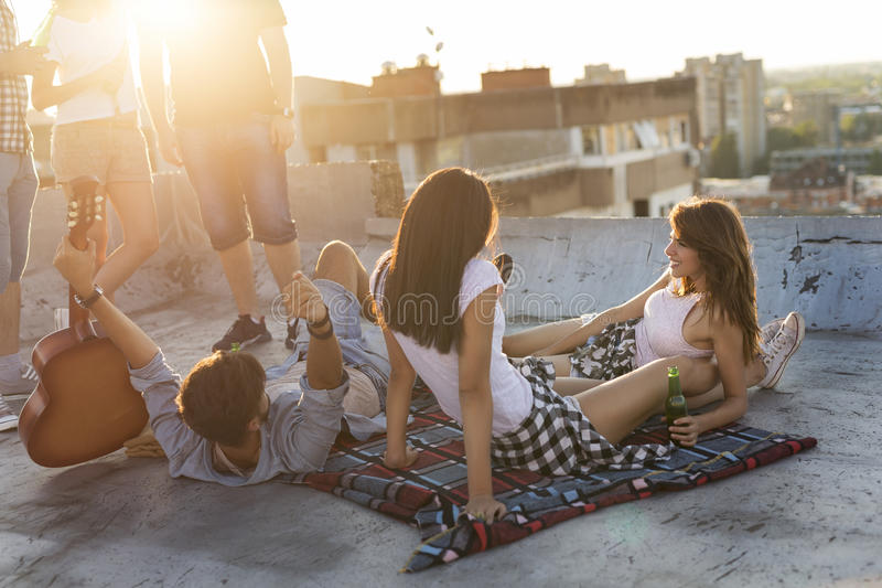 Young people hanging out stock photos