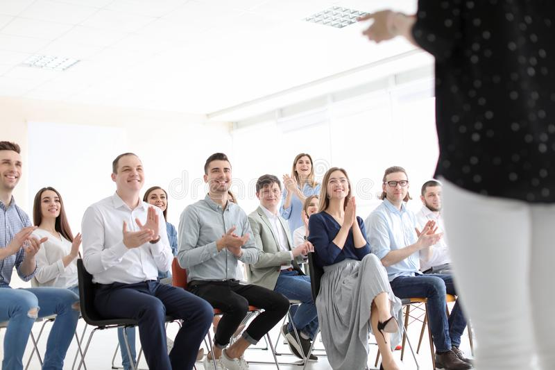 Young people having business training royalty free stock image