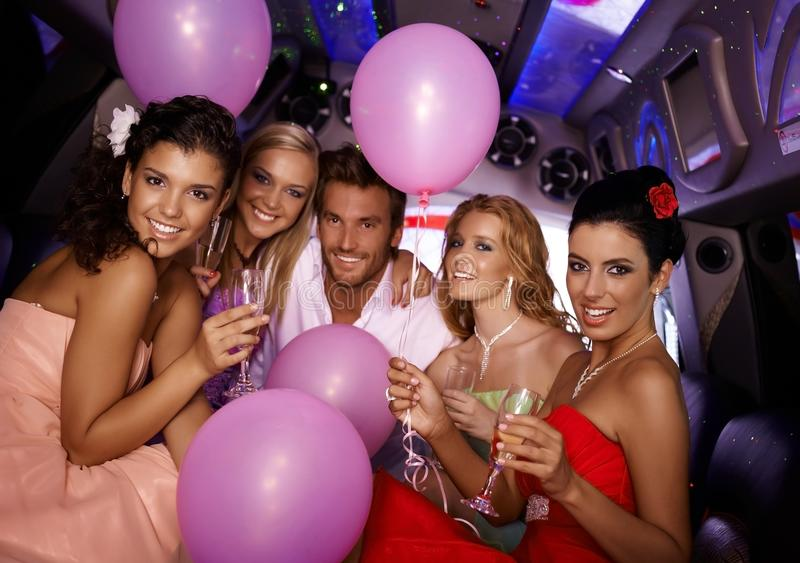 Download Young People Having Party In Limo Stock Photo - Image: 30968682