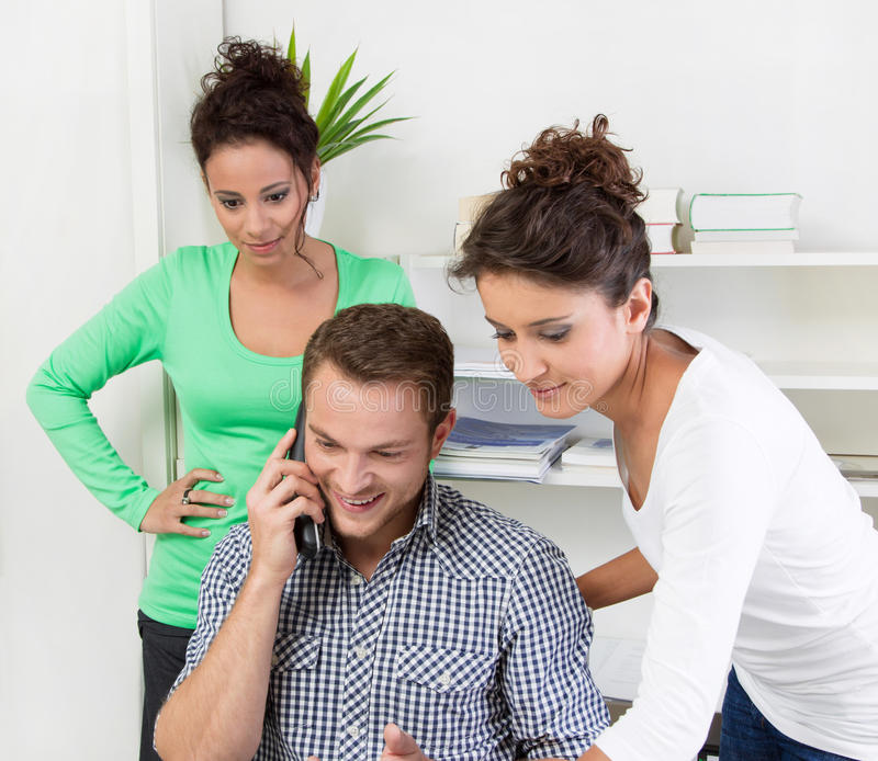 Download Young people in the office stock photo. Image of good - 36261864
