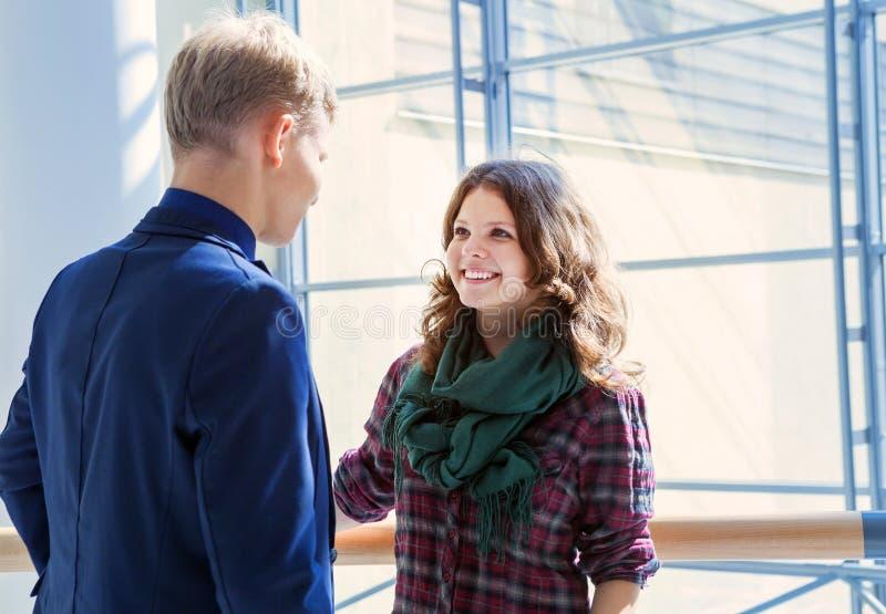 Young people sensitive conversation stock photos