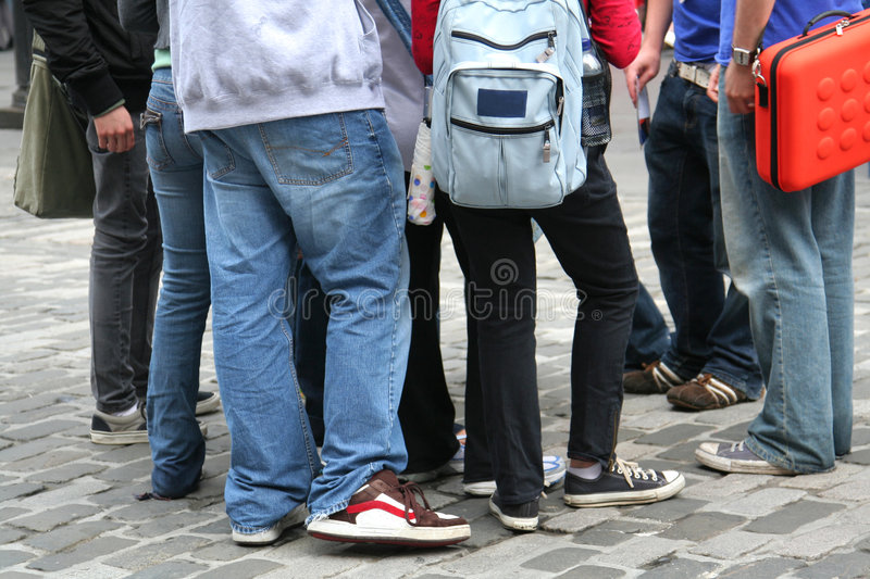 Download Young people on the street stock photo. Image of adolescent - 6114612