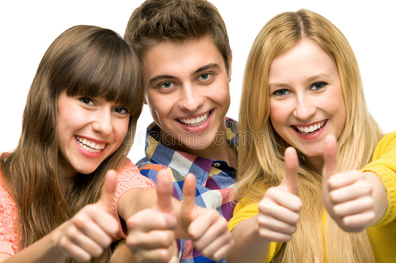 Download Young People With Thumbs Up Stock Photography - Image: 21446952