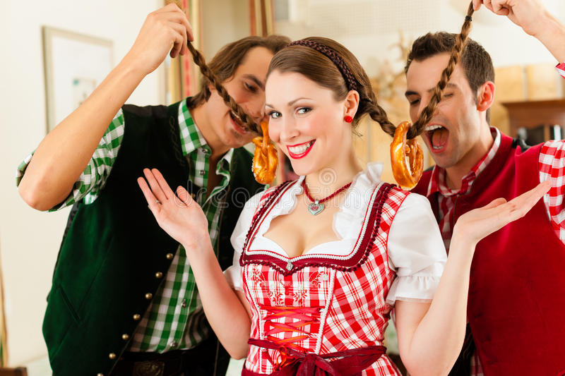 Download Young People In Traditional Bavarian Tracht Stock Image - Image: 24770229