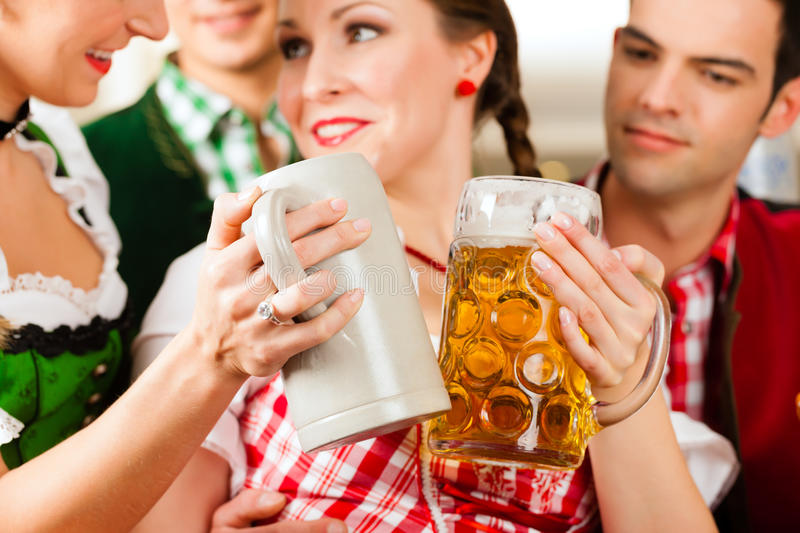 Download Young People In Traditional Bavarian Tracht In Restaurant Or Pub Stock Image - Image: 29801351