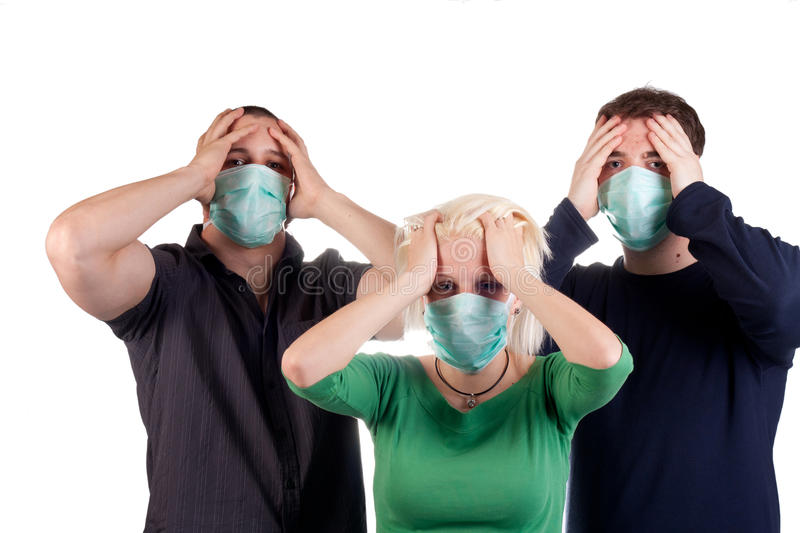 Download Young People Wearing Flu Masks Stock Photo - Image: 24924090