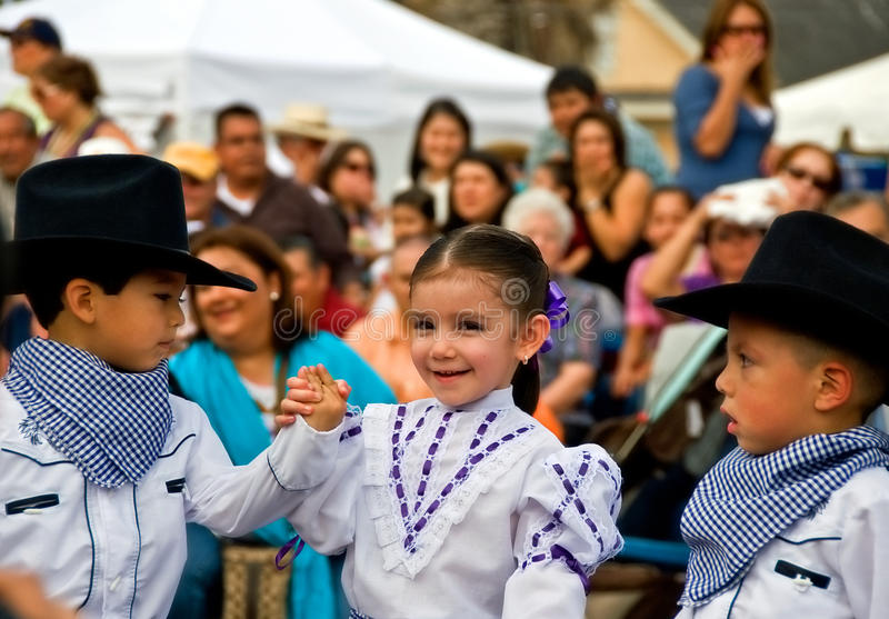 Young performers at festival stock photos