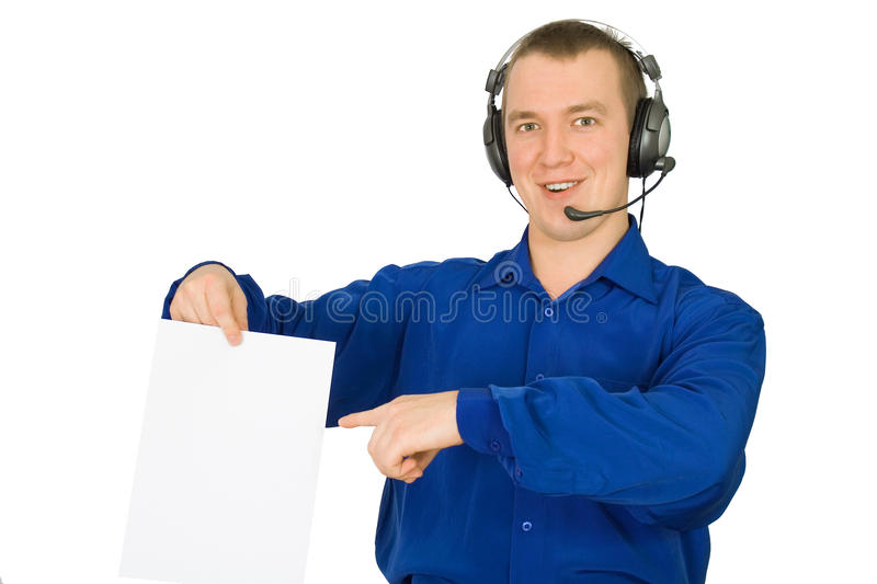 Young person in earphone stock photo