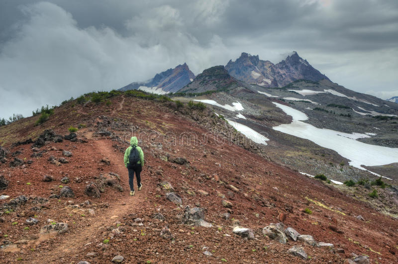 Download Young Person Hiking In Oregon Stock Image - Image: 12717379