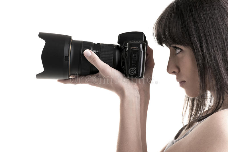 Download Young Photographer stock photo. Image of isolated, object - 18979510