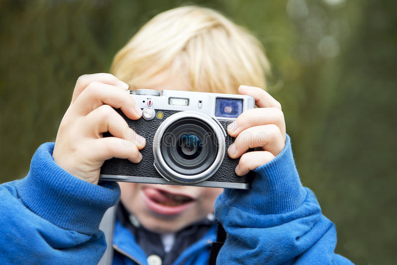 Download Young Photographer stock image. Image of pictures, happy - 28027987