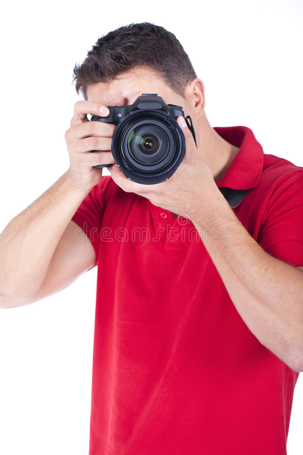 Download Young Photographer With A Camera Stock Photo - Image: 21103640