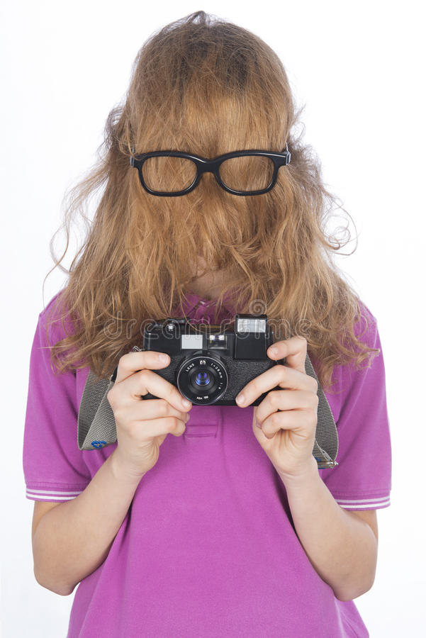 Young photographer like cousin Hit royalty free stock photography