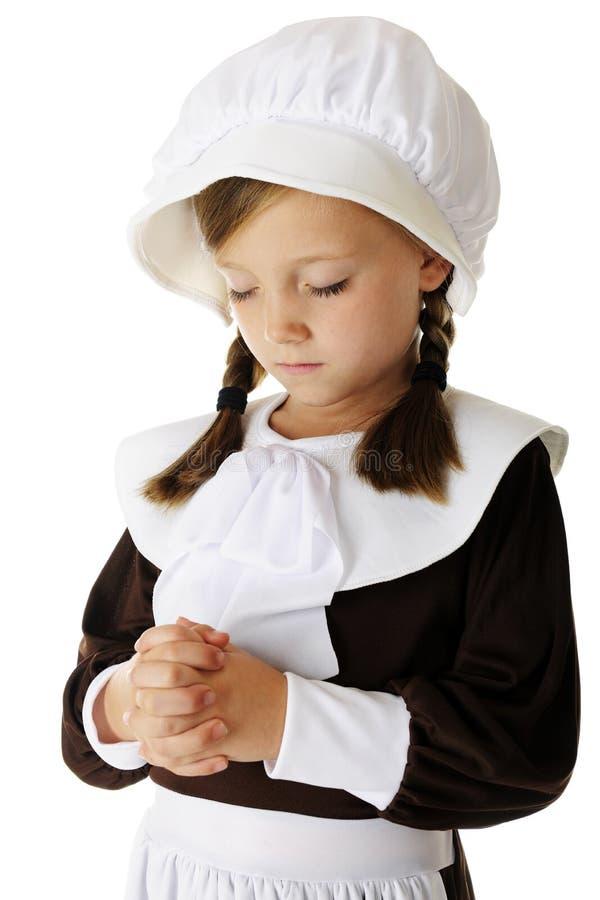 Young Pilgrim Prayer royalty free stock photos