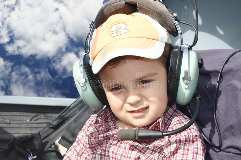 Young pilot royalty free stock images