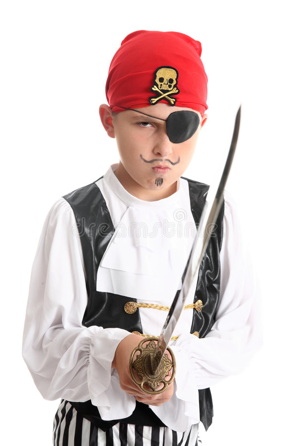 Young Pirate Ready For Fight Royalty Free Stock Photo