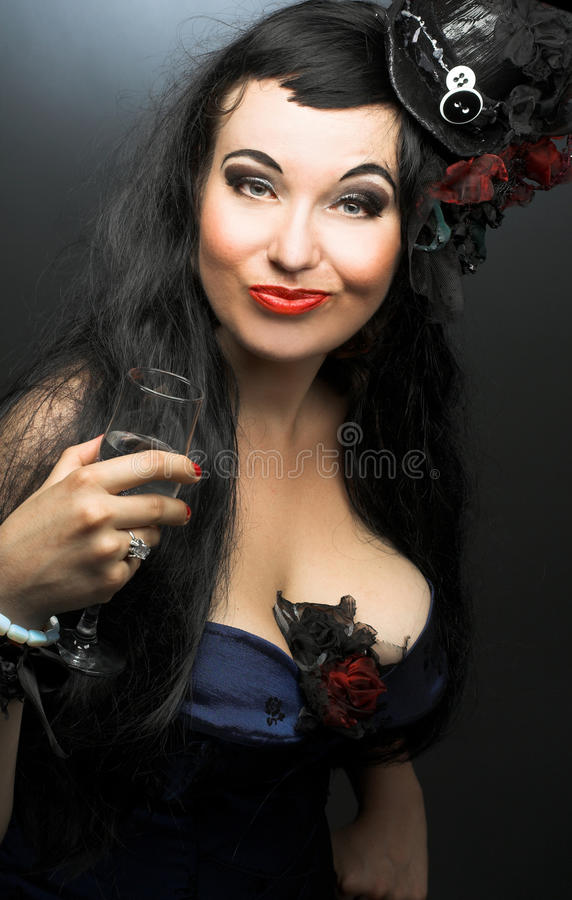 Young plump woman stock photo