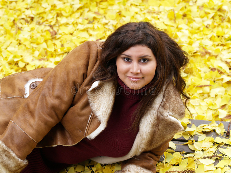 Young plus-size model stock image