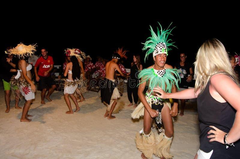 Young Polynesian Pacific Island Tahitian Men Dancers Editorial Stock Image
