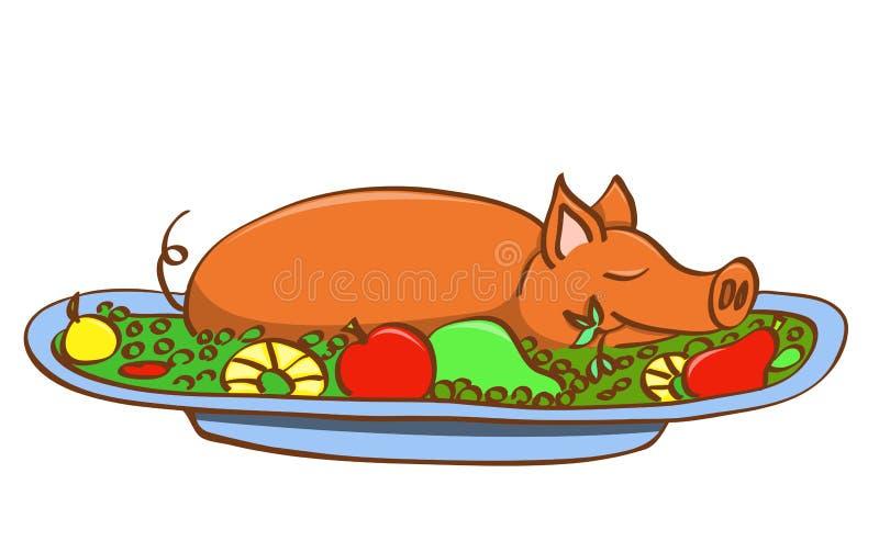 Young pork. stock illustration