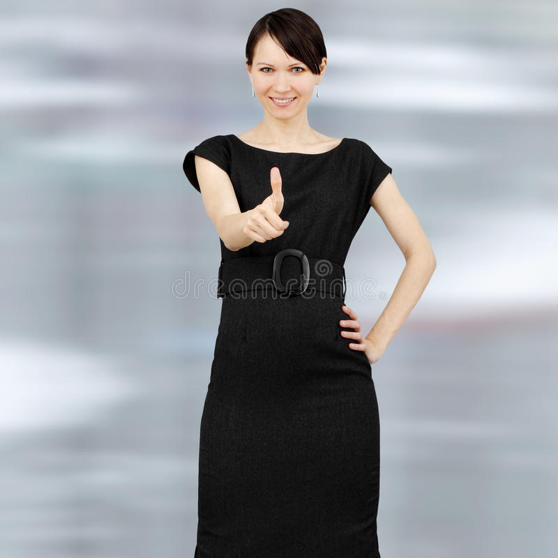 Young positive woman royalty free stock images