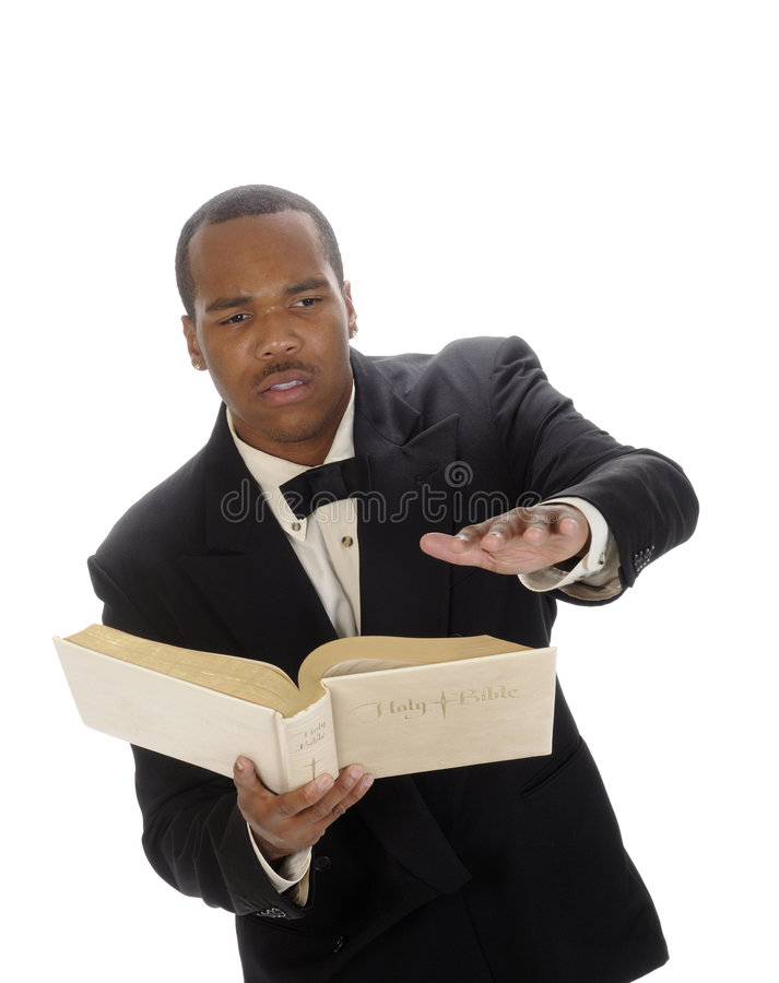 Young preacher stock photography