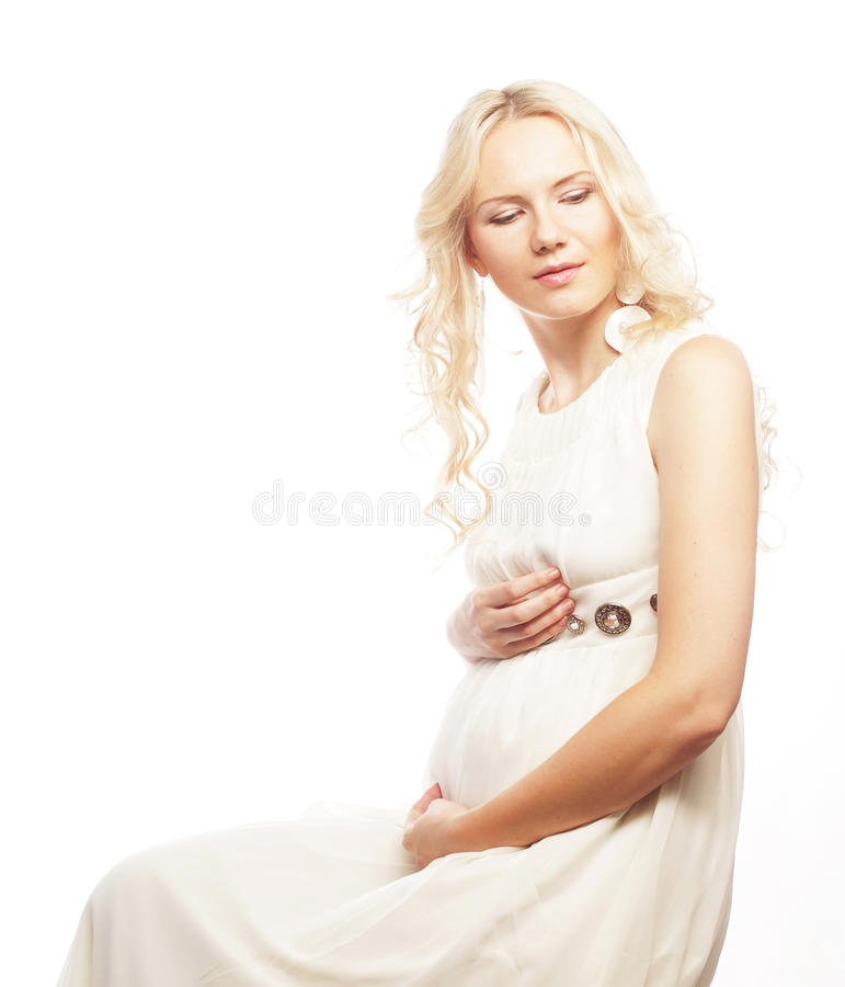 Download Young Pregnant Woman With Gerber Stock Photo - Image: 39697499