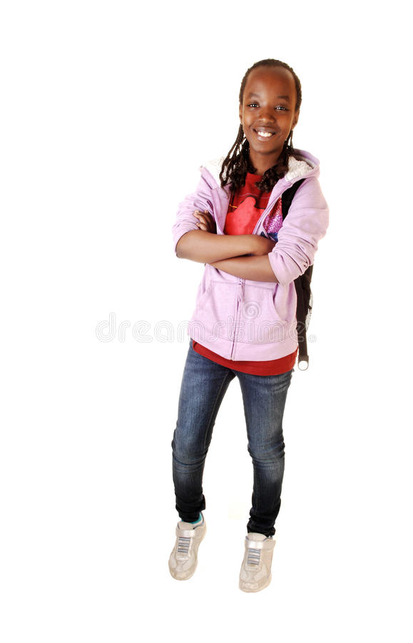 Black young girl. stock image