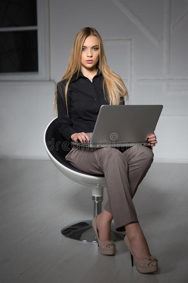 Young pretty blonde royalty free stock photo