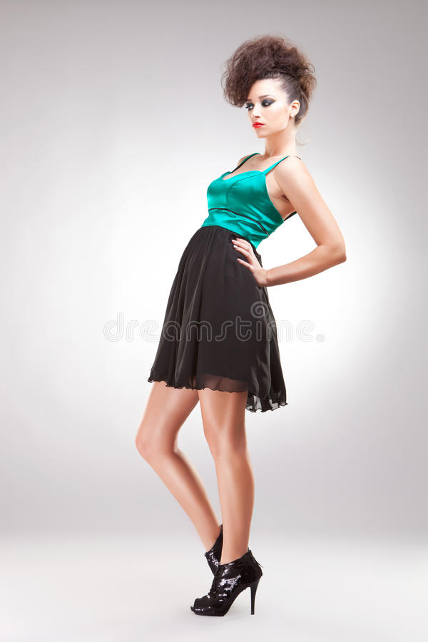Young Pretty Brunette Woman Royalty Free Stock Photo