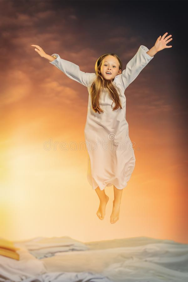Young pretty emotional girl royalty free stock photo