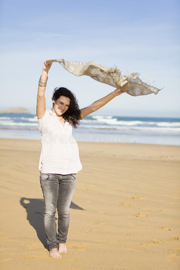 Download Young pretty girl beach stock photo. Image of outdoor - 12798570