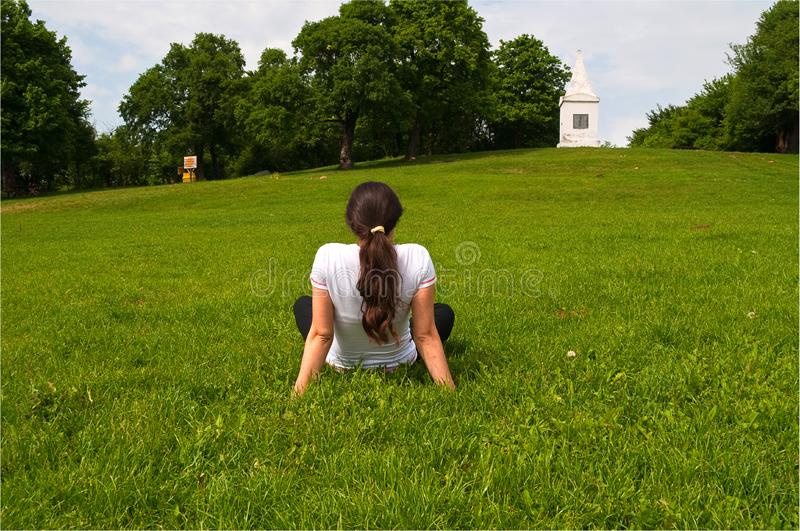 Download Young Pretty Girl Enjoying Outdoors Stock Image - Image of country, portrait: 14292945