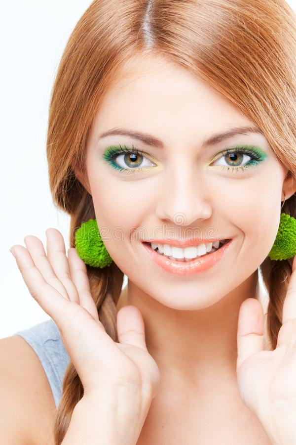 Download Young pretty girl portrait stock image. Image of dental - 14338443