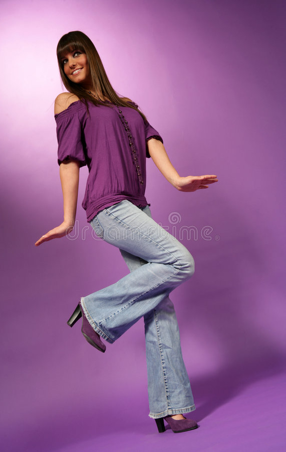 Free Young Pretty Hippie Girl Stock Photography - 8481052
