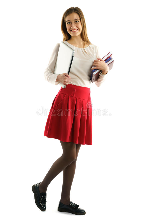 Young pretty sudent girl stock photography