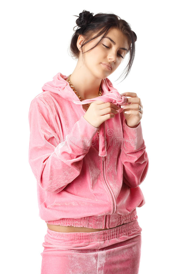 Download Young Pretty Woman In Pajamas Stock Image - Image: 23220571