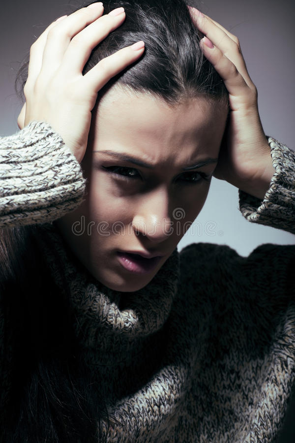 Download Young Pretty Woman In Trouble, Screaming In Grief Stock Photo - Image: 36015424