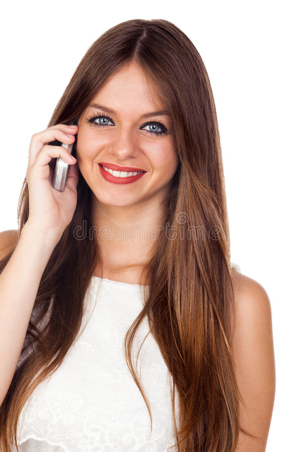 Download Young Pretty Woman Using A Mobile Phone Stock Image - Image: 27152047