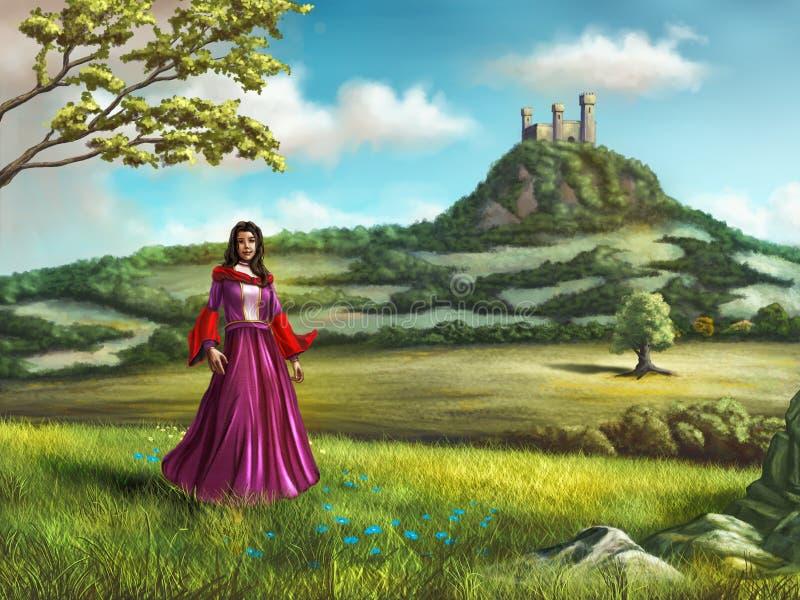 Young princess vector illustration