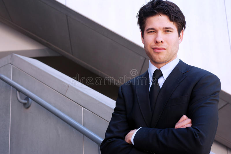 Young professional businessman royalty free stock photo